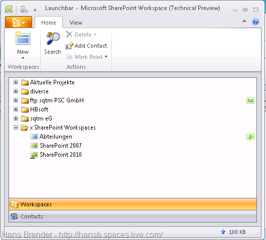 SharePoint Workspace 2010: Suchen