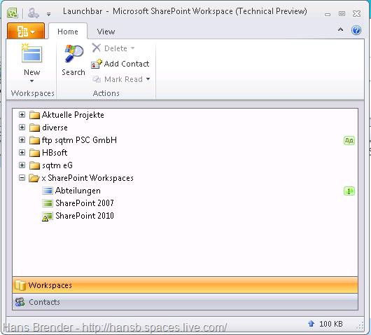 SharePoint Workspace 2010: Suchen