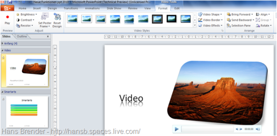 Video Tools in PowerPoint 2010