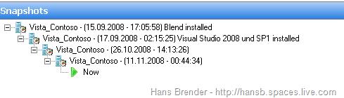Hyper-V Snapshot Tree Windows Server 2008