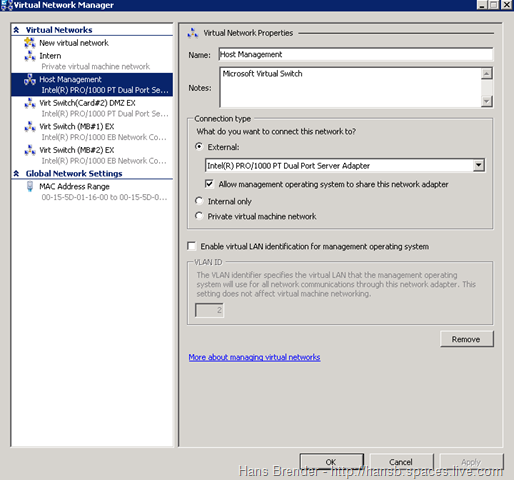 Windows Server 2008 R2: Virtual Network Manager