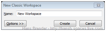 Classic Workspace Dialog