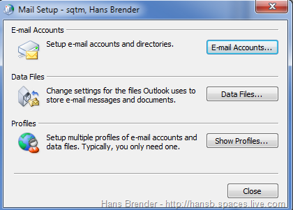 Outlook 2010: Mail Setup