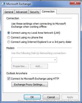 Outlook 2010: Connection