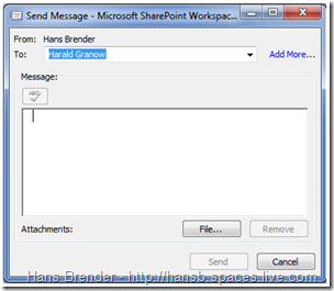 Messaging in SharePoint Workspace 2010 (Groove 2007)