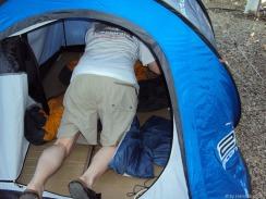 Was im Zelt ist, muss raus