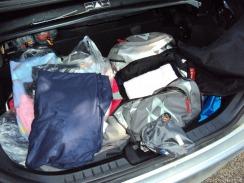 die Schlafsäcke sind auch schon verpackt