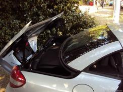 Das Cabrio-Dach wird verstaut...