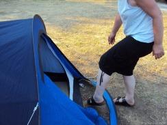 und ab ins Zelt.