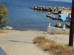 Strasse mündet direkt im Meer