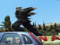 Kunst am Rand der Strassen von Athen