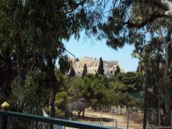 einen Blick auf die Akropolis...