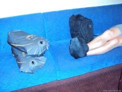 Schlafsack dient als Kissen