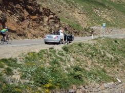 Cabrio (oder der Fahrer ?) benötigen Pause