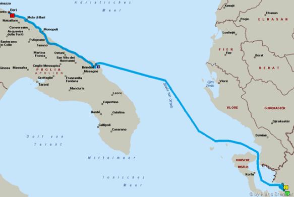 Route : Igoumenitsa - Bari
