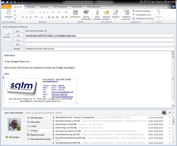 E-Mail ohne Anlage