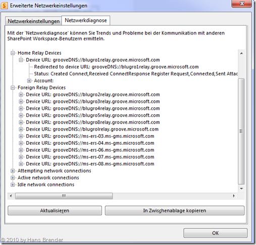 eigene und fremde Groove 2010 Relay Server