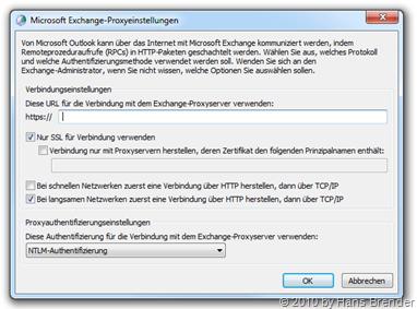 Exchange-Proxyeinstellungen