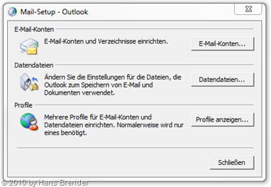 Mail-Setup Outlook