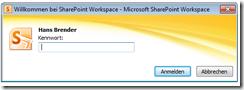 SharePoint Workspace 2010: Kennwort-Eingabe