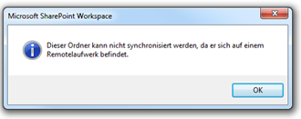 SharePoint Workspace 2010: Remotelaufwerk