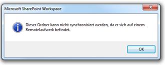 SharePoint Workspace 2010: Remotelaufwerk