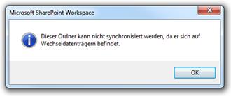 SharePoint Workspace 2010: Wechseldatenträger
