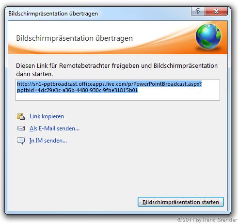PowerPoint 2010   Broadcast Slideshow   Hans Brender's Blog
