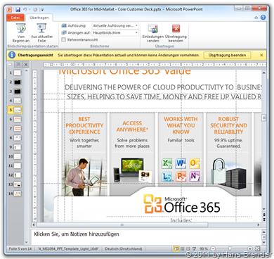 Starten der Bildschirmpräsentation mit PowerPoint 2010