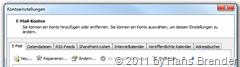 Outlook 2010: Kontoeinstellungen