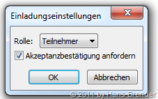 SharePoint Workspace 2010: Einladungseinstellungen