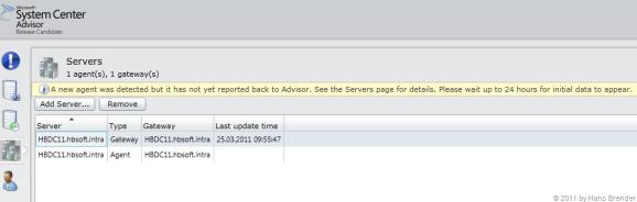 System Center Advisor: Server Ansicht im Browser