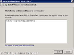 Installation Windows Service Pack 1 auf Windows Server 2008 R2