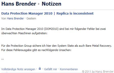 automatische Facebook Nachricht via ping.fm