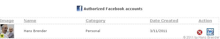 Twitterlive: Facebook Account Eigenschaften