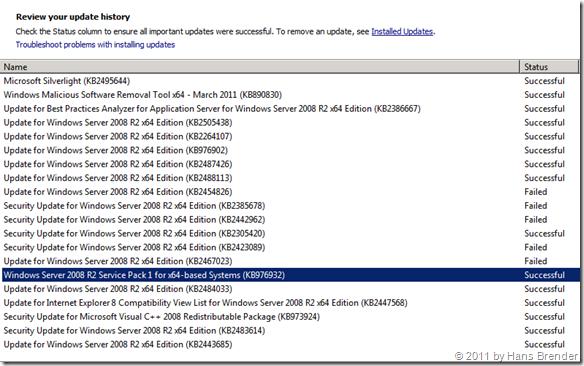 Update Historie für SCVMM 2012 Beta (fertige VHD)
