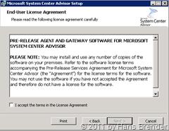 Endbenutzerlizenzbestimmungen beim System Center  Advisor