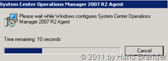 System Center Advisor Agent Setup: braucht System Center Operations Manager 2007 R2 Agenten