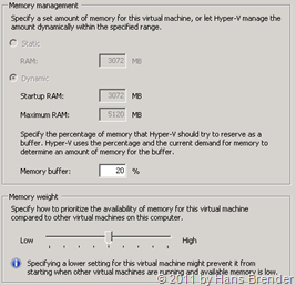 Memory Management Hyper-V Dynamic Memory Exchange Server