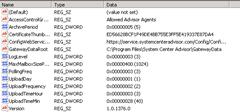 System Center Advisor: Registry-Einträge Gateway