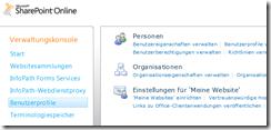 Office 365: SharePoint Online: Verwaltung
