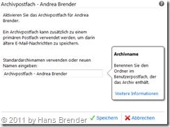 Office 365: Exchange Online: Postfachfeatures aktivieren und speichern