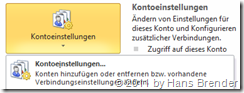 Outlook 2010: Kontoeinstellungen