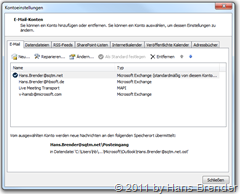 Outlook 2010: neues Konto