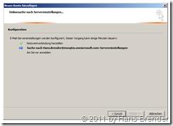 Outlook 2010: Verbindung aufbauen
