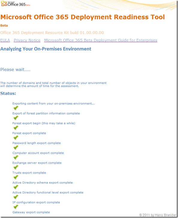 Deployment Readiness Tool: Analyse der lokalen Umgebung: