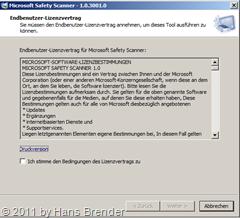 Microsoft Safety Scanner: Endbenutzer Lizenzvertrag