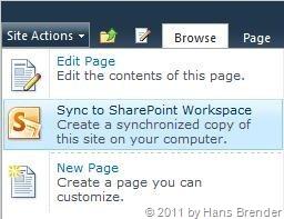 Synchronisation von Dokumenten auf SharePoint Server 2010