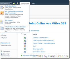 Office 365: SharePoint Online: Mit SharePoint Workspace synchronisiern
