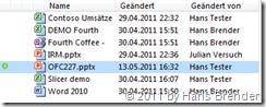 Anzeige von neuen Inhalten in SharePoint Workspace Arbeitsbereich vor der Datei